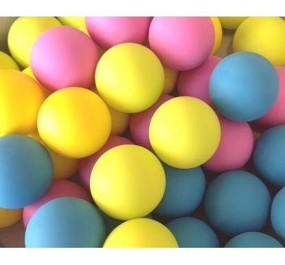 Udestående Bordtennisbolde farvet, sælges i løsvægt -bestil her! LS54